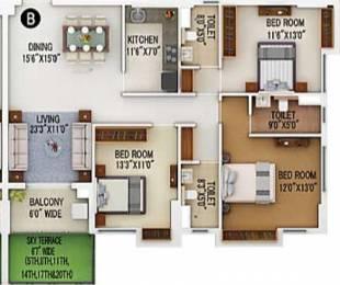 1460 sqft, 3 bhk Apartment in Merlin 5th Avenue Salt Lake City, Kolkata at Rs. 0