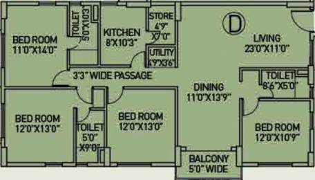 2187 sqft, 4 bhk Apartment in Arch Starwood Chinar Park, Kolkata at Rs. 0