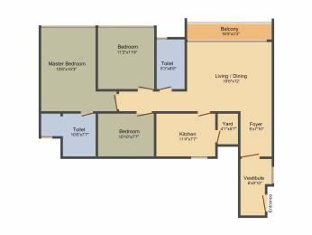 1430 sqft, 3 bhk Apartment in Olympia Jayanthi Residences Thiruvanmiyur, Chennai at Rs. 0