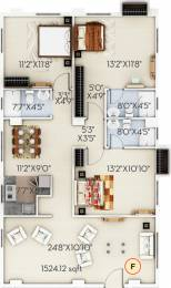 1524 sqft, 3 bhk Apartment in Sugam Habitat Picnic Garden, Kolkata at Rs. 0