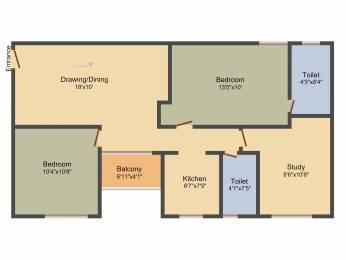 1070 sqft, 2 bhk Apartment in Srijan Eternis Madhyamgram, Kolkata at Rs. 0