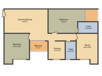 1049 sqft, 2 bhk Apartment in Srijan Eternis Madhyamgram, Kolkata at Rs. 0