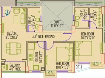 966 sqft, 2 bhk Apartment in Primarc Aangan Dum Dum, Kolkata at Rs. 0