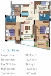 1497 sqft, 3 bhk Apartment in Belani Zest Rajarhat, Kolkata at Rs. 0
