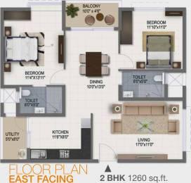 1260 sqft, 2 bhk Apartment in Ramky One Galaxia Nallagandla Gachibowli, Hyderabad at Rs. 0