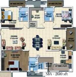 2610 sqft, 3 bhk Apartment in Salarpuria Sattva Magnus Shaikpet, Hyderabad at Rs. 0