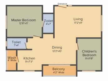 1150 sqft, 2 bhk Apartment in Hallmark Tranquil Manikonda, Hyderabad at Rs. 0