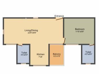 662 sqft, 1 bhk Apartment in Saheel Itrend Homes Hinjewadi, Pune at Rs. 0