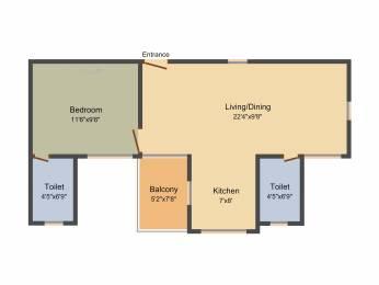 660 sqft, 1 bhk Apartment in Saheel Itrend Homes Hinjewadi, Pune at Rs. 0