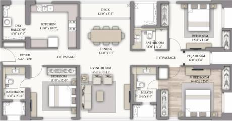 2020 sqft, 3 bhk Apartment in Piramal Vaikunth Cluster 2 Thane West, Mumbai at Rs. 0
