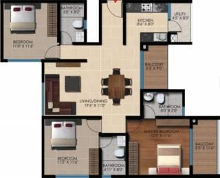 1535 sqft, 3 bhk Apartment in Vaishnavi Oasis JP Nagar Phase 9, Bangalore at Rs. 0