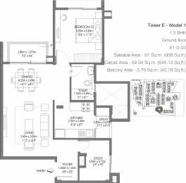 938 sqft, 1 bhk Apartment in Godrej Life Plus Kanakapura Road Beyond Nice Ring Road, Bangalore at Rs. 0