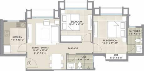 554.56 sqft, 2 bhk Apartment in Hiranandani Barca Thane West, Mumbai at Rs. 0