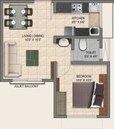 526 sqft, 1 bhk Apartment in Provident Park Square Talaghattapura, Bangalore at Rs. 0