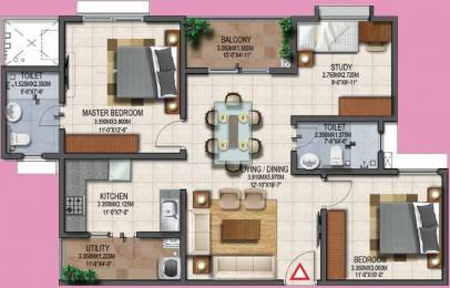 1140 sqft, 3 bhk Apartment in Provident Adora De Goa 1 Vasco Da Gama, Goa at Rs. 0