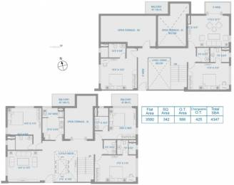 4347 sqft, 5 bhk Apartment in PS Vyom New Alipore, Kolkata at Rs. 0