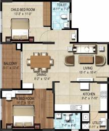 1194 sqft, 2 bhk Apartment in DSR Waterscape Horamavu, Bangalore at Rs. 0