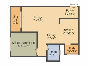 840 sqft, 1 bhk Apartment in Goyal Orchid Whitefield Whitefield Hope Farm Junction, Bangalore at Rs. 0