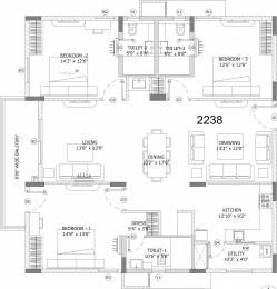 2238 sqft, 3 bhk Apartment in Ashoka Lake Side Manikonda, Hyderabad at Rs. 0
