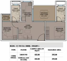 592 sqft, 2 bhk Apartment in Xrbia Smart City Warai, Mumbai at Rs. 0