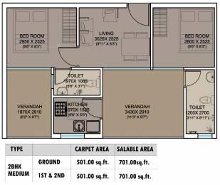 701 sqft, 2 bhk Apartment in Xrbia Smart City Warai, Mumbai at Rs. 0