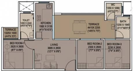 813 sqft, 3 bhk Apartment in Xrbia Smart City Warai, Mumbai at Rs. 0