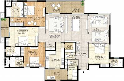 3660 sqft, 4 bhk Apartment in Adani Water Lily Near Vaishno Devi Circle On SG Highway, Ahmedabad at Rs. 0