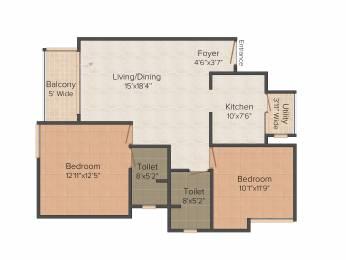 1145 sqft, 2 bhk Apartment in Olympia Opaline Sequel Navallur, Chennai at Rs. 0