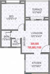 643 sqft, 1 bhk Apartment in Rama Krystal City Moshi, Pune at Rs. 0