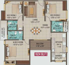 1624 sqft, 3 bhk Apartment in Alliance Galleria Residences Pallavaram, Chennai at Rs. 0