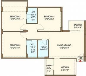 1350 sqft, 3 bhk Apartment in Bakeri Sarvesh Ranip, Ahmedabad at Rs. 0