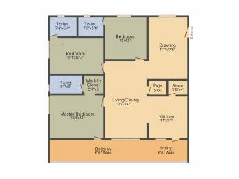 2192 sqft, 3 bhk Apartment in Western Exotica Kondapur, Hyderabad at Rs. 0