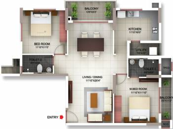 1274 sqft, 2 bhk Apartment in PBEL Siesta Thaiyur, Chennai at Rs. 0