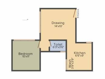 640 sqft, 1 bhk Apartment in Savvy Studioz Gota, Ahmedabad at Rs. 0