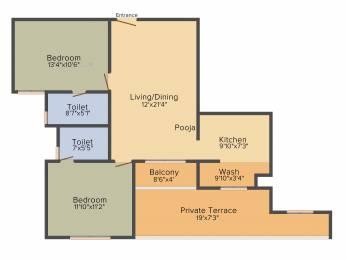 1168 sqft, 2 bhk Apartment in Sapthrishi asta AVM Vadapalani, Chennai at Rs. 0