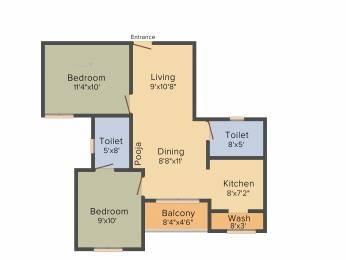 899 sqft, 2 bhk Apartment in Radiance Empire Perambur, Chennai at Rs. 0