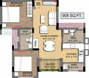 905 sqft, 2 bhk Apartment in Radiance Empire Perambur, Chennai at Rs. 0
