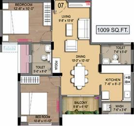 1009 sqft, 2 bhk Apartment in Radiance Empire Perambur, Chennai at Rs. 0