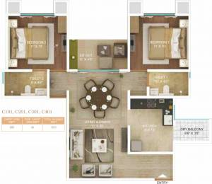 1010 sqft, 2 bhk Apartment in Amar Serenity Pashan, Pune at Rs. 0
