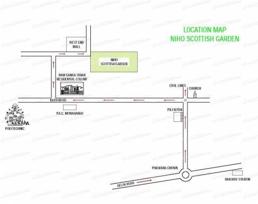 1299 sqft, 2 bhk Apartment in Niho Scottish Garden Gandhinagar, Bhopal at Rs. 55.0000 Lacs
