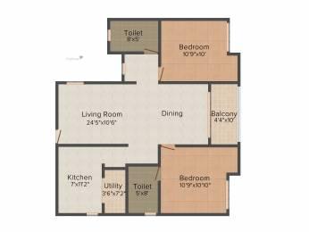 1010 sqft, 2 bhk Apartment in KG Good Fortune Perumbakkam, Chennai at Rs. 0