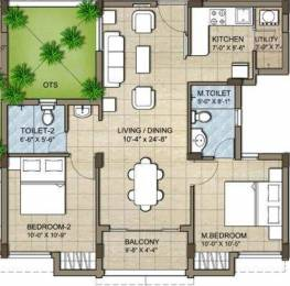 975 sqft, 2 bhk Apartment in KG Good Fortune Perumbakkam, Chennai at Rs. 0