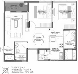 1017 sqft, 2 bhk Apartment in Godrej Azure Padur, Chennai at Rs. 0