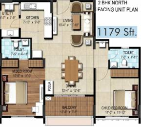 1179 sqft, 2 bhk Apartment in DSR Waterscape Horamavu, Bangalore at Rs. 0