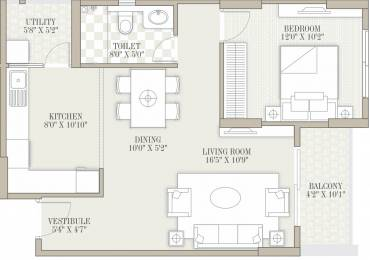 894 sqft, 1 bhk Apartment in Goyal Orchid Whitefield Whitefield Hope Farm Junction, Bangalore at Rs. 0