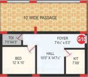 625 sqft, 1 bhk Apartment in RV Bhaiji Panchajanya Kondapur, Hyderabad at Rs. 0