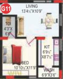 589 sqft, 1 bhk Apartment in RV Bhaiji Panchajanya Kondapur, Hyderabad at Rs. 0