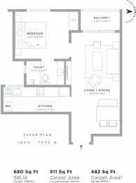 680 sqft, 1 bhk Apartment in Assetz Here and Now Thanisandra, Bangalore at Rs. 0