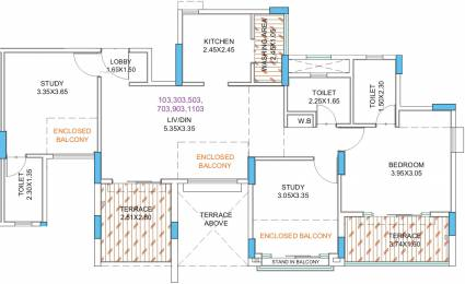 765.21 sqft, 3 bhk Apartment in Guardian Eastern Meadows Phase 1 Kharadi, Pune at Rs. 0