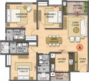 1579 sqft, 3 bhk Apartment in Olympia Opaline Sequel Navallur, Chennai at Rs. 0
